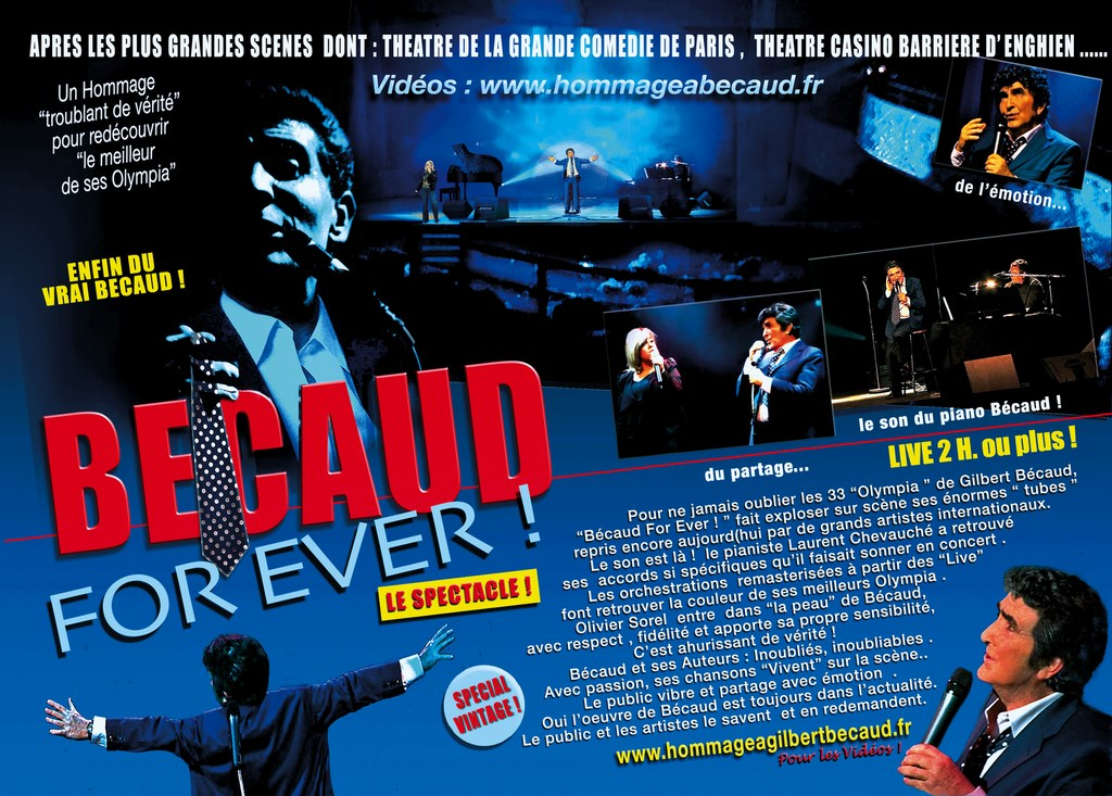 flyer spectacle hommage Becaud for ever 2016 olivier Sorel